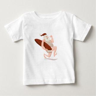 T-shirt Pour Bébé Course du père noël surfer-père Noël Claus