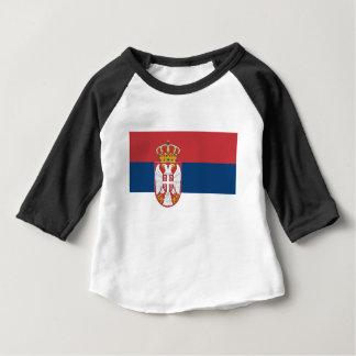T-shirt Pour Bébé Coût bas ! Drapeau de la Serbie