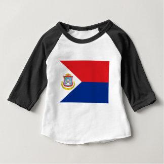 T-shirt Pour Bébé Coût bas ! Drapeau de Sint Maarten