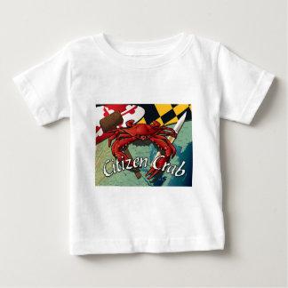 T-shirt Pour Bébé Crabe de citoyen avec le maillet et le couteau