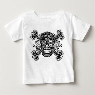 T-shirt Pour Bébé Crâne antique et os croisés de sucre