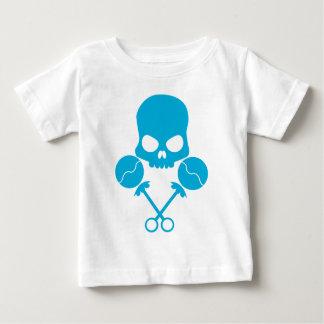 T-shirt Pour Bébé Crâne de Rattler - dans le bleu défiant de la mort