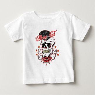 T-shirt Pour Bébé Crâne de rockabilly