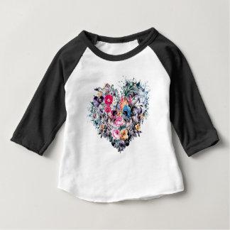 T-shirt Pour Bébé Crâne de Saint-Valentin avec des coeurs