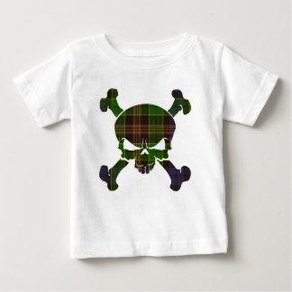 T-shirt Pour Bébé Crâne de tartan d'Allison aucune bannière