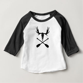 T-shirt Pour Bébé Crâne d'orignaux et palettes croisées