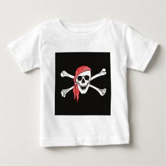 T-shirt Pour Bébé Crâne et drapeau de pirate croisé d'os