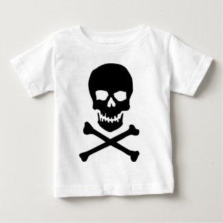 T-shirt Pour Bébé crâne et os