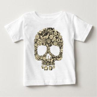 T-shirt Pour Bébé Crâne fleuri fleuri