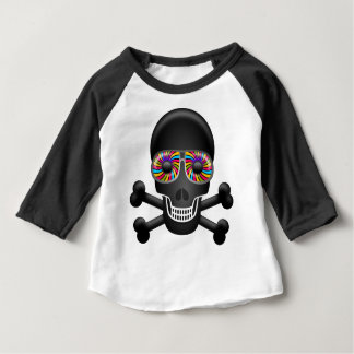 T-shirt Pour Bébé crâne psychédélique