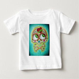 T-shirt Pour Bébé Crâne tatoué de sucre