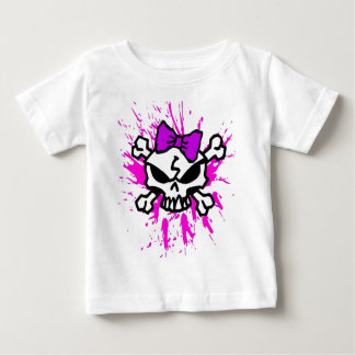 T-shirt Pour Bébé Crânes et os croisés