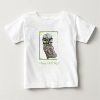 T-shirt Pour Bébé Creuser des vacances de hibou