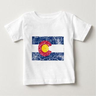 T-shirt Pour Bébé Cru de drapeau d'état du Colorado