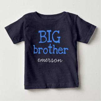 T-shirt Pour Bébé Customisé ajoutez un frère des textes bleus nommés