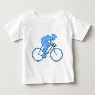 T-shirt Pour Bébé Cycliste dans une course. Bleu