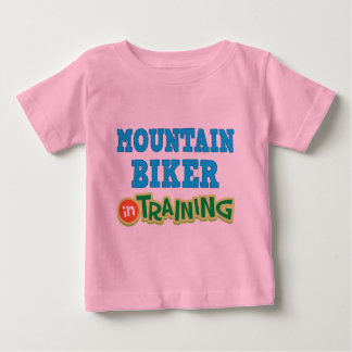 T-shirt Pour Bébé Cycliste de montagne dans la formation (avenir)