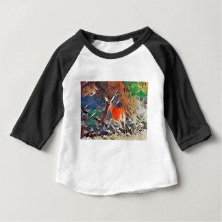 T-shirt Pour Bébé Daine coupée la queue par blanc