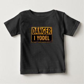 T-shirt Pour Bébé DANGER, JE JODLE panneau d'avertissement