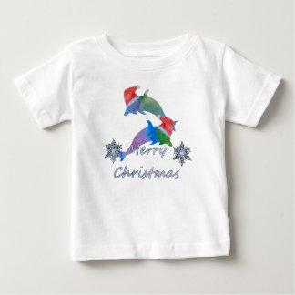 T-shirt Pour Bébé Dauphins de Noël