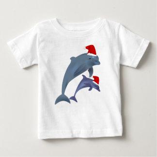 T-shirt Pour Bébé dauphins de père Noël