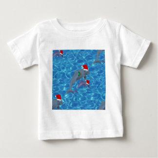 T-shirt Pour Bébé dauphins du père noël