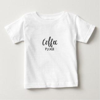 T-shirt Pour Bébé De CAFÉ calligraphie SVP