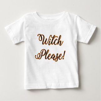 T-shirt Pour Bébé de sorcière dire drôle de Halloween svp