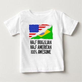 T-shirt Pour Bébé Demi d'impressionnant américain à moitié brésilien