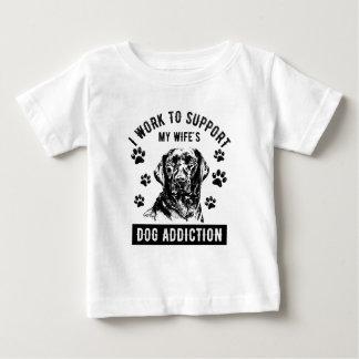 T-shirt Pour Bébé Dépendance de chien