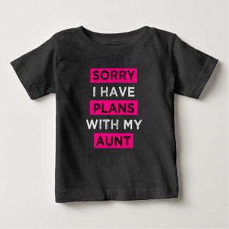 T-shirt Pour Bébé Désolé j'ai des plans avec ma chemise drôle de