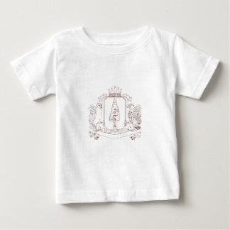 T-shirt Pour Bébé Dessin de crête de couronne de séquoia de hibou et