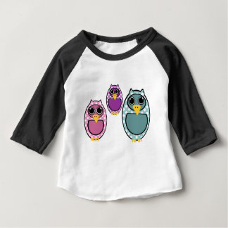 T-shirt Pour Bébé Dessin de hibou de Polkadot