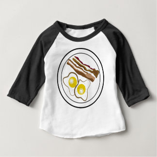 T-shirt Pour Bébé Dessin de lard et d'oeufs