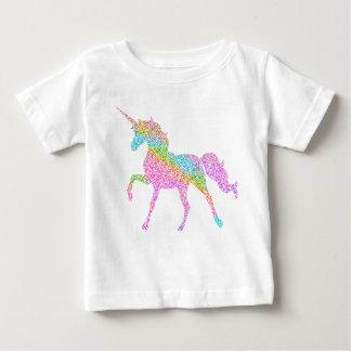 T-shirt Pour Bébé Dessus de parties scintillantes de licorne pour