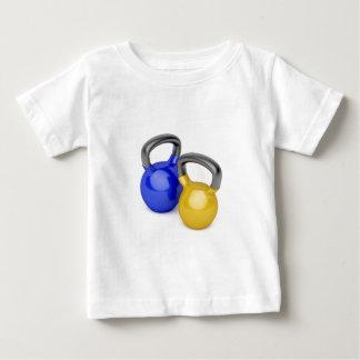 T-shirt Pour Bébé Deux kettlebells