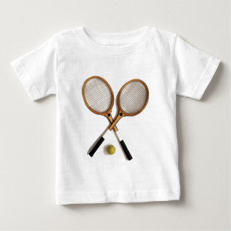 T-shirt Pour Bébé deux raquettes de tennis vintages, sports, parties