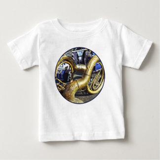 T-shirt Pour Bébé Deux sousaphones et tambours