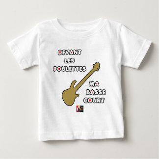 T-shirt Pour Bébé Devant les POULETTES ma BASSE COURT