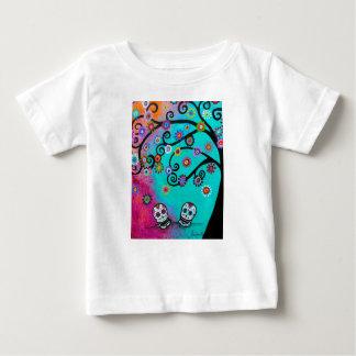 T-shirt Pour Bébé Dia de los Muertos Couple