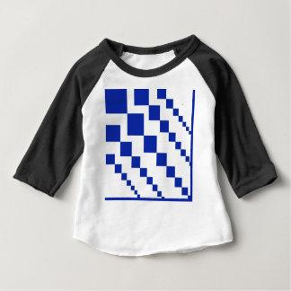 T-shirt Pour Bébé Diamants descendants bleus audacieux