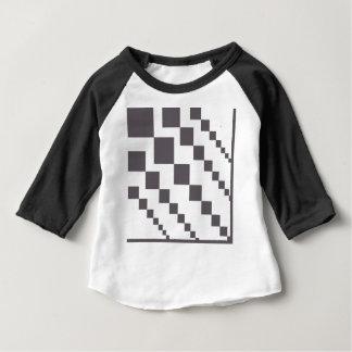 T-shirt Pour Bébé Diamants descendants gris