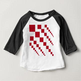 T-shirt Pour Bébé Diamants rouges de queue de cerf-volant