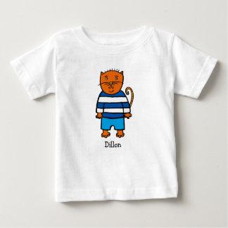 T-shirt Pour Bébé Dillon personnalisé le chat