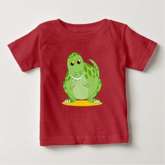 T-shirt Pour Bébé Dinosaure vert mignon de Rex de T-Rex ou de
