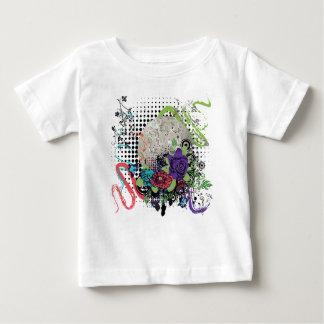 T-shirt Pour Bébé Disco argentée grunge Ball2 [converti] - 01