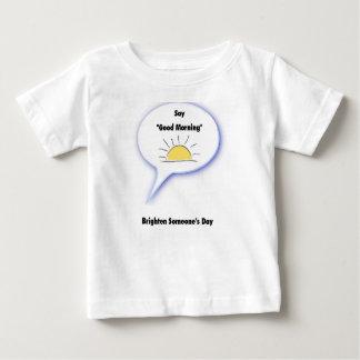 """T-shirt Pour Bébé Dites """"bonjour"""" et éclairez quelqu'un jour"""