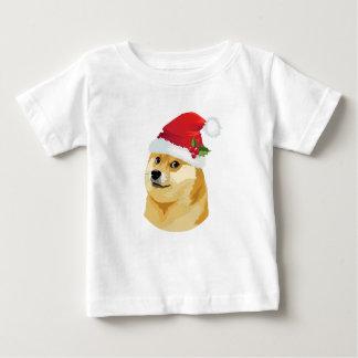 T-shirt Pour Bébé Doge de Noël - doge de père Noël - chien de Noël