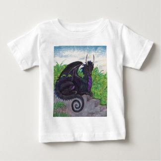 T-shirt Pour Bébé Dragon noir pourpre