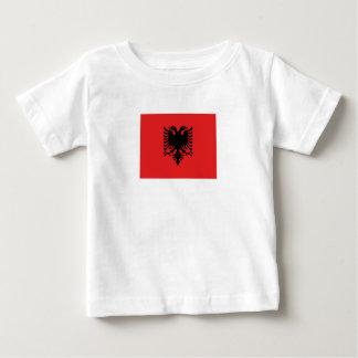 T-shirt Pour Bébé Drapeau albanais patriotique